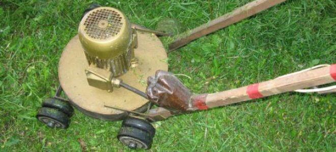 Как сделать газонокосилку из бытового электрооборудования?
