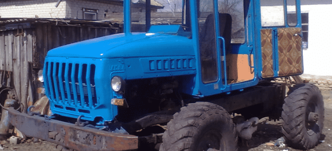 Газ 66 на самодельный трактор 181