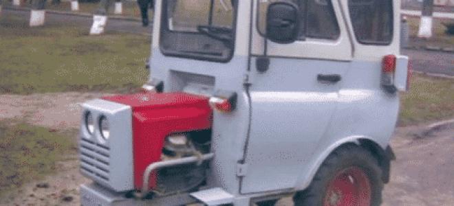 Принцип создания минитрактора из автомобиля УАЗ