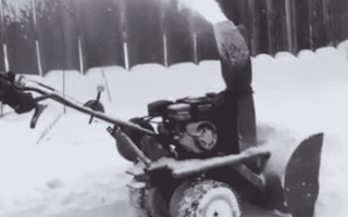 Снегоуборщик из газового баллона – механизированный помощник своими руками