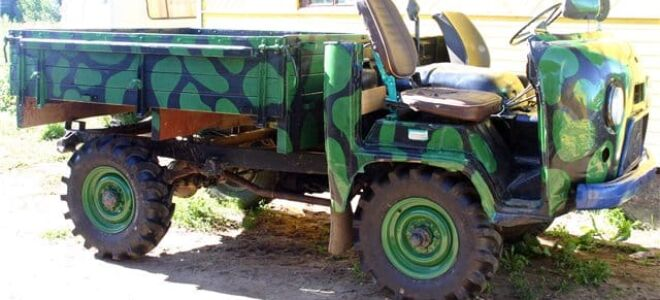 Принцип создания трактора из автомобиля Уаз своими руками