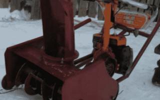 Снегоуборщик из пилы – особенности конструкции и принцип сборки