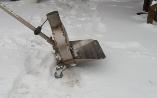 Снегоуборщик из триммера или мотокосы своими руками