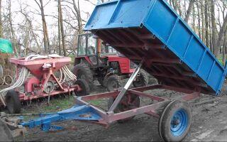 Как сделать телегу для трактора своими руками самым простым способом