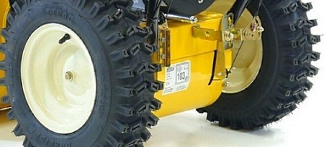 Особенности эксплуатации колес и шин снегоуборщиков