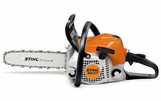 Бензопила Stihl 211 — особенности и преимущества