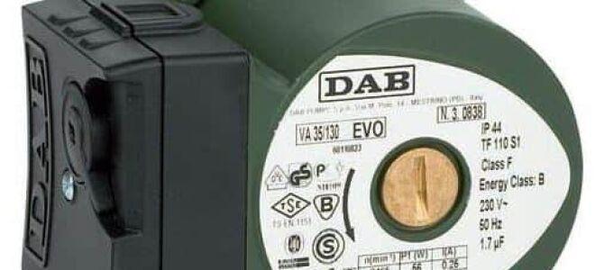 Характеристика циркуляционных насосов «DAB»
