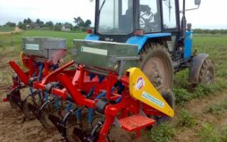 Культиватор и окучник для трактора