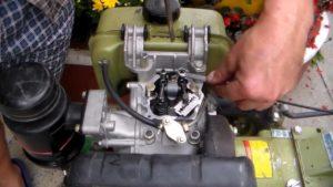 Регулировка зазоров клапанов двигателя мотоблока