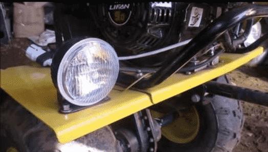 Как сделать свет на мотоблоке Как поставить фару без генератора Как подключить катушку освещения своими руками
