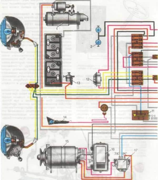 Электрическая схема МТЗ 80