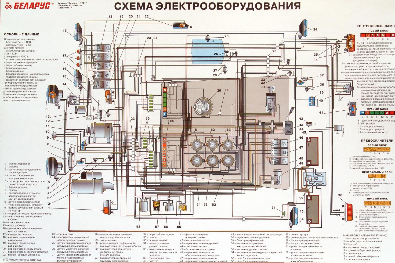 Электрическая схема МТЗ-82