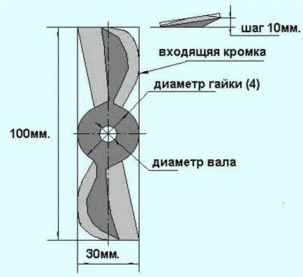 Как сделать винт для лодочного мотора