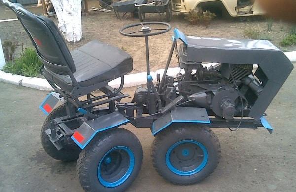 Самодельный трактор с переломной рамой