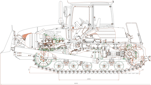 Трактор МТЗ Беларус 1502 - схема