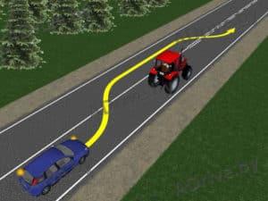 Можно ли обгонять трактор через сплошную?
