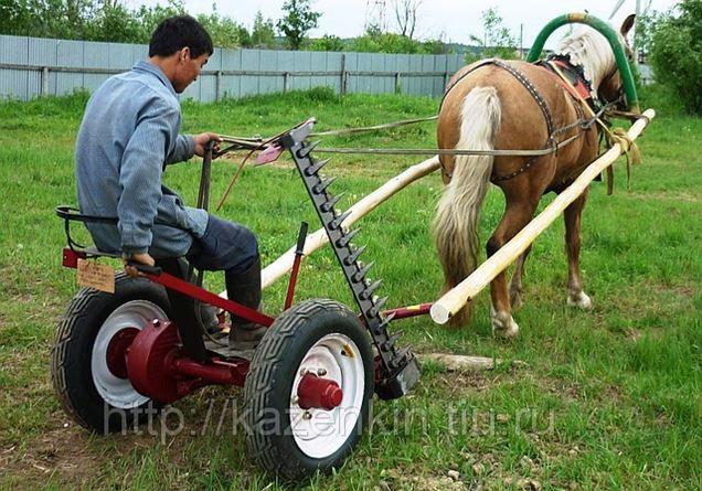 Сенокосилка своими руками конная
