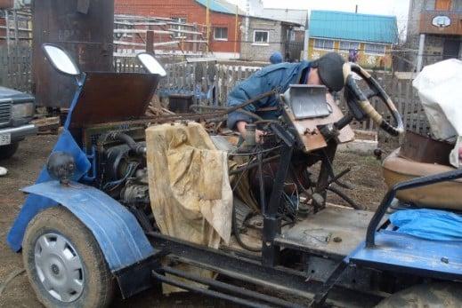 Трактор из «Москвича»