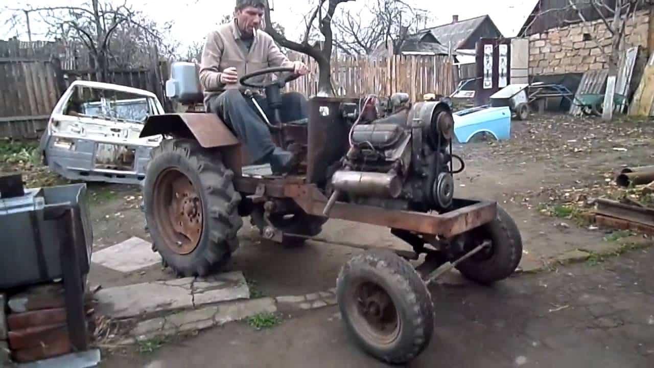 Самодельный трактор из «Запорожца»