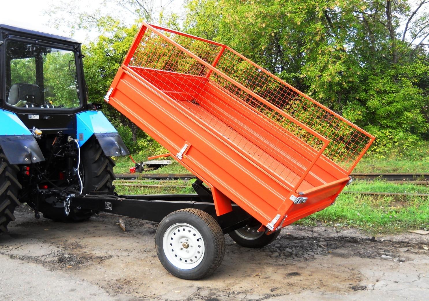 Самосвальный одноосный прицеп к трактору