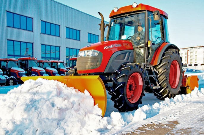 Очистить территории от снега