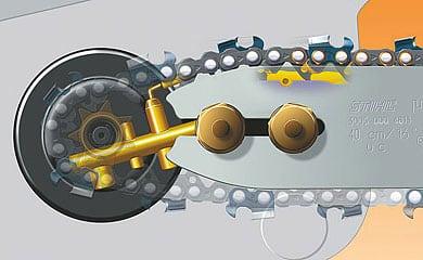 Как работает система смазки цепи бензопилы?