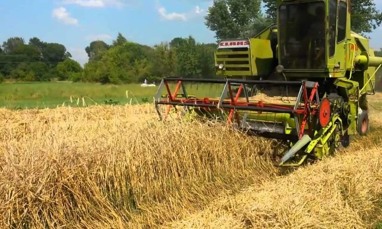 Мини комбайн для уборки зерна