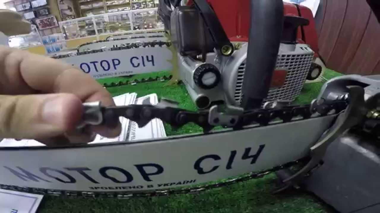 Регулировку бензопилы «Мотор Сич»