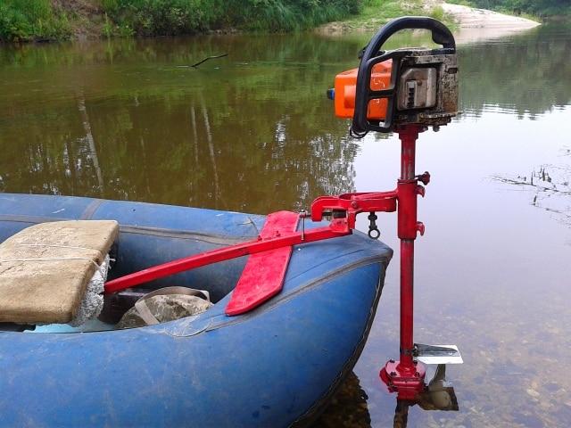 Насадки на бензопилу: мотор для лодки