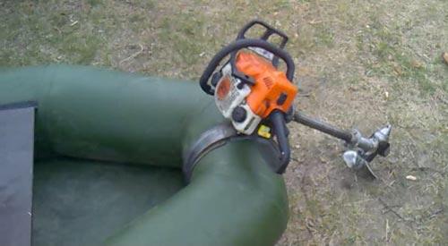 Лодочный мотор из бензопилы своими руками