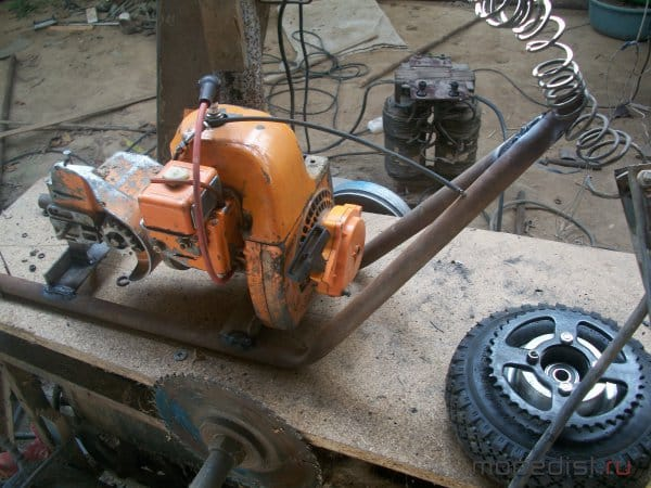 Как сделать велосипед с мотором от бензопилы?