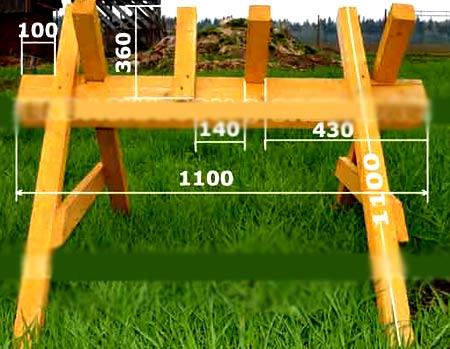 Как сделать козлы из дерева своими руками 107