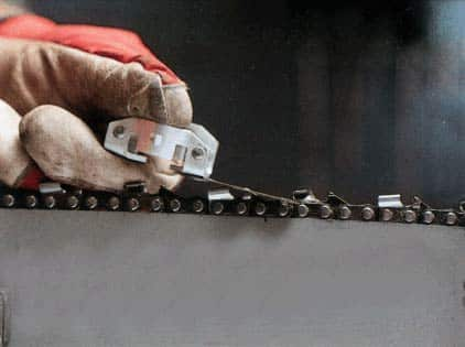 Какие углы ставить на станке для заточки цепи бензопилы?