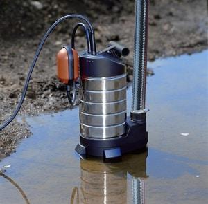 Дренажный насос для откачки воды грязной