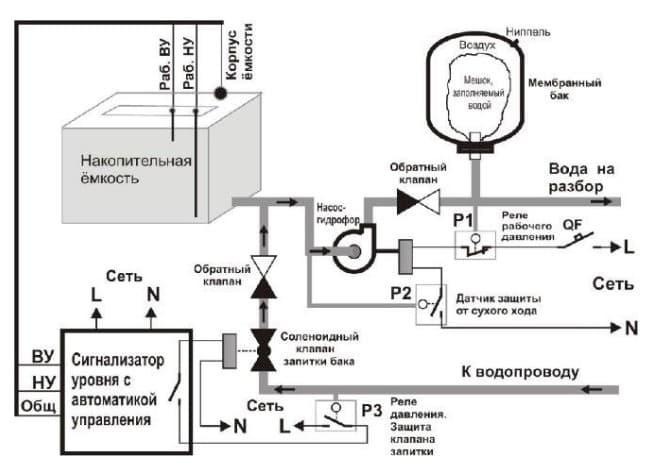 датчик протока воды схема подключения