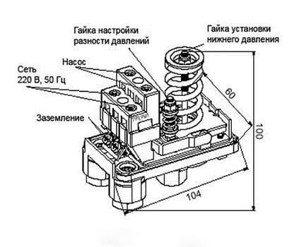 Регулировка давления насосной станции: реле давления