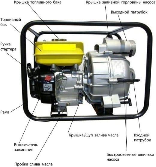 Бензиновые мотопомпы для воды: устройство